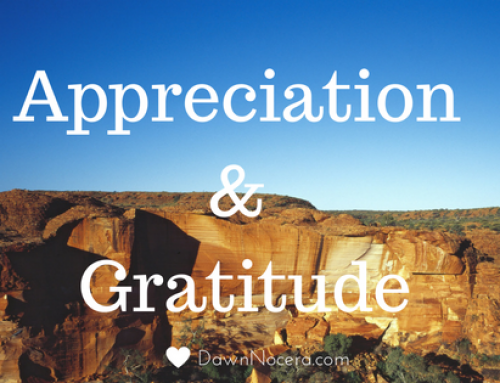 Appreciation and Gratitude are Different Vibrational States
